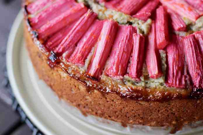 Green Tea Rhubarb Cake - 9
