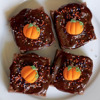 Baked Sunday Mornings: Milk Chocolate Malted Brownies with Chocolate Ganache