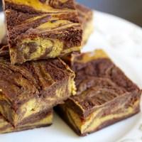 Baked Sunday Mornings: Pumpkin Swirl Cheesecake Chocolate Brownies