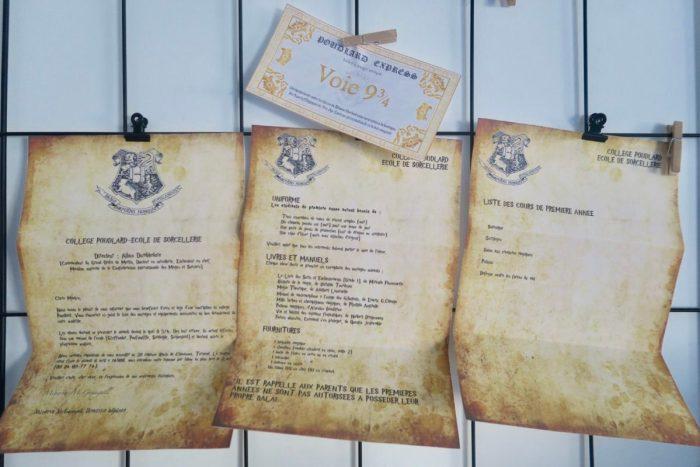 Lettre d'admission à l'école de sorcellerie Poudlard. Invitations anniversaire Harry Potter.