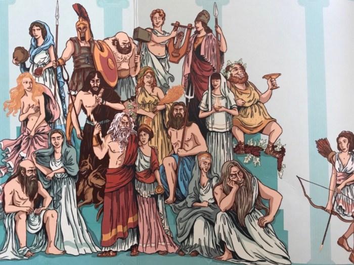 Les Dieux de la mythologie illustrés par Nancy Peña. Collection Petites histoires de la mythologie, Éditions Nathan.