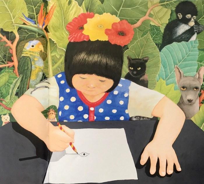 Album jeunesse Petite Frida, Anthony Browne  aux éditions Kaléidoscope