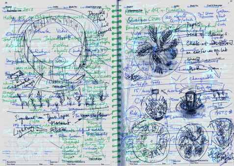 Pages from StellrScope Sketches by Eleanor Gates-Stuart