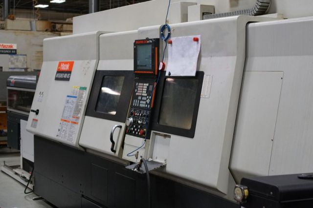 Hey @mazakcorp the INTEGREX 400-IVS was a great fit for us! It's a powerhouse of a CNC Lathe! . . . . . . #machining #cncmachining #lathework #stelroncomponents