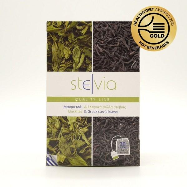 Μαύρο Τσάι Κεϋλάνης & Ελληνικά φύλλα στέβια - αεροστεγή φακελάκια