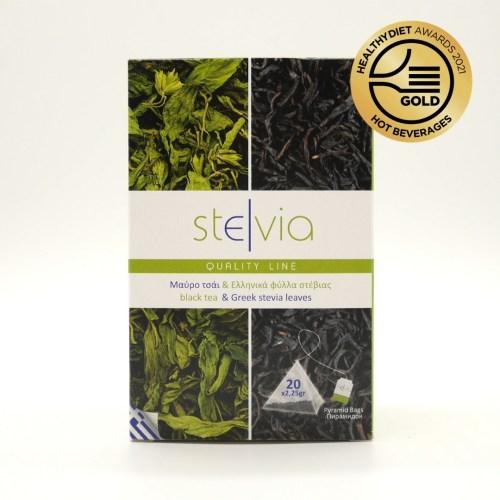 Μαύρο τσάι & Ελληνικά φύλλα στέβια - Βιοδιασπώμενη πυραμίδα