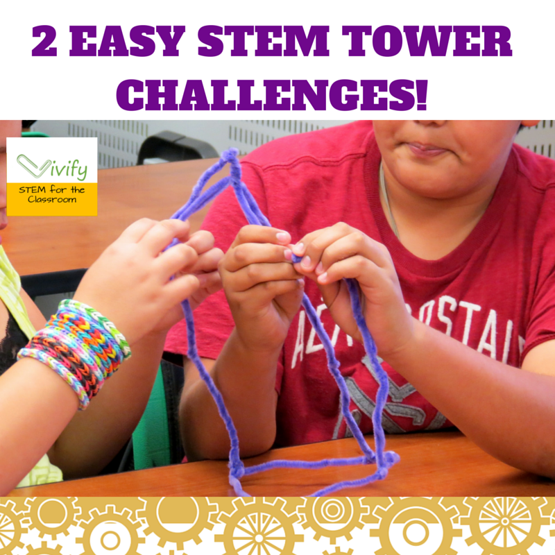 Two Easy STEM Tower Challenges!