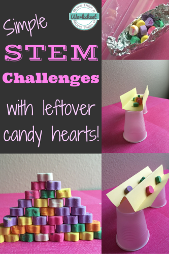 Candy Heart STEM Challenges