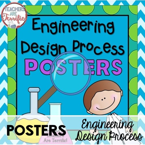 The Engineering Design Process Posters- a Freebie at Teachers are Terrific!