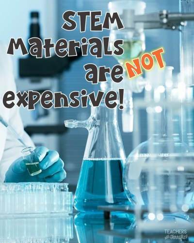 STEM Challenges: Are the materials costly? No, they are not! This blog post will answer the materials question and a few more!