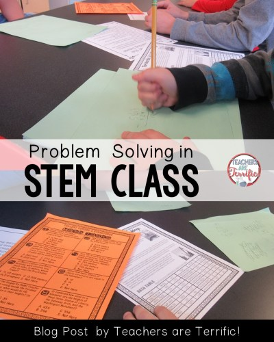 What a great way to add math to STEM class! Kids solve problems to earn the materials! Check the blog post for more information!