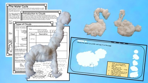 Learn about cloud types with hands on and digital activities.