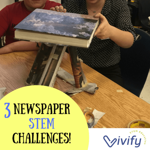 Newspaper STEM Challenge 1 Build A Tower