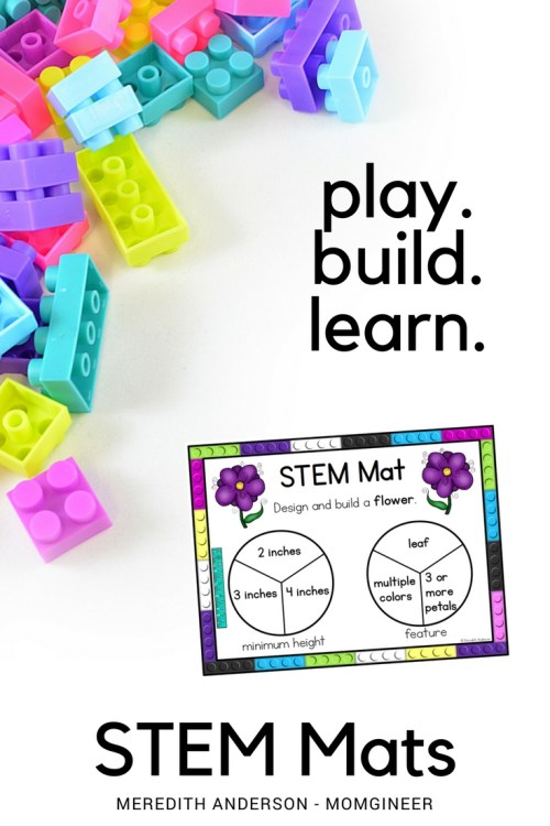 STEM Mats are hands-on STEM exploration for little learners. They are easy to set up and use, and provide a variety of challenges that can be used over and over. Meredith Anderson - Momgineer for STEM Activities for Kids