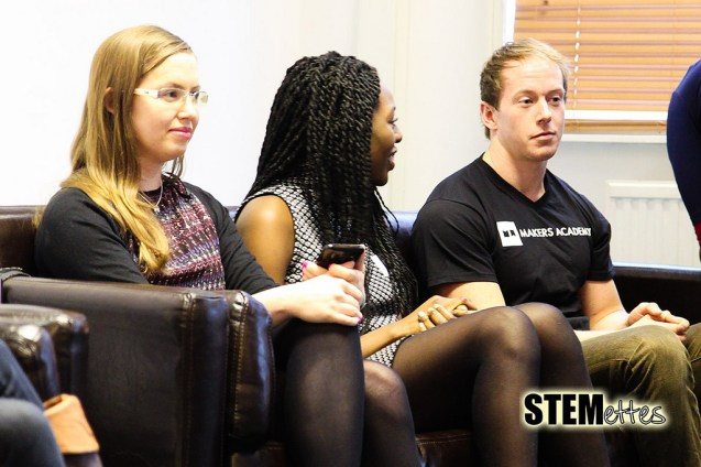 (l-r) Danielle Nanton, Hadiza Mohammed and Stephen, our remaining 3 panellists