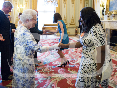 Head Stemette Anne-Marie Imafidon with the Queen