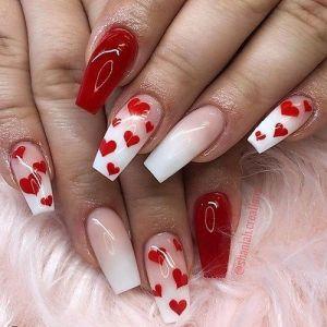 Manichiura de Valentine's Day 1