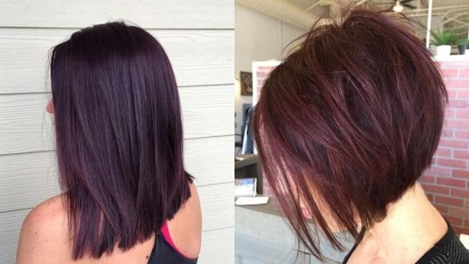 Super combinatie de par negru si violet pentru un look spectaculos