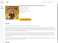 Giants of Science: Marie Curie Audiobook