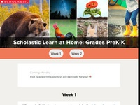 Scholastic Learn at Home Grades PK-K