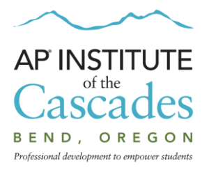 Teacher Training at AP Institute in Bend, OR @ Central Oregon Community College