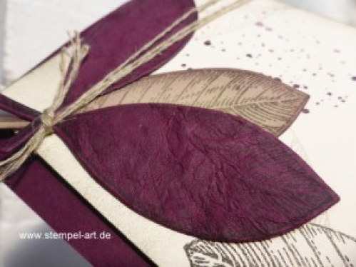 Faux Leather Technique nach StempelART, Vintage Leaves (9)