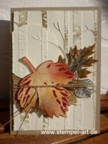 Josephs Coat Technique nach StempelART, Vintage Leaves (2)