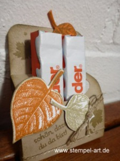 www.stempel-art.de, Vintage Leaves, Schokoriegel, Goodie
