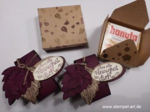 Hanuta Verpackung nach StempelART, Vintage leaves