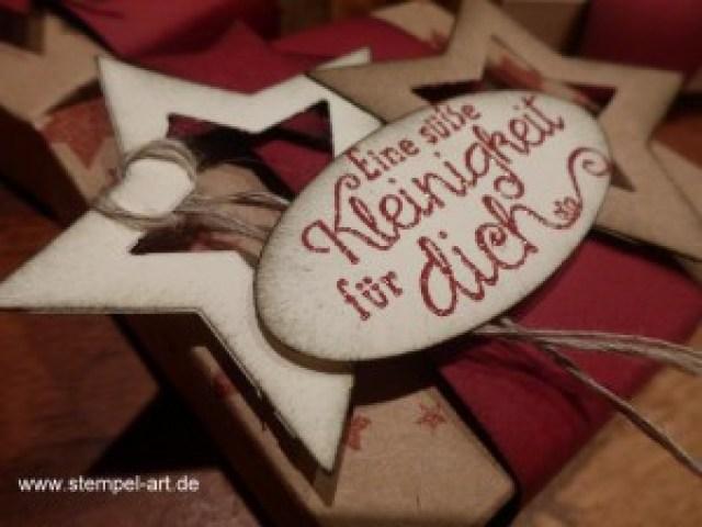 weihnachtliche Hanuta Verpackung nach StempelART, (6)
