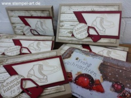 Adventskalender To Go nach StempelART, Winter Wishes, Hardwood, bebilderte Anleitung, Tutorial (11)