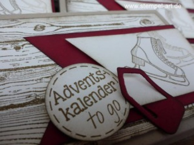 Adventskalender To Go nach StempelART, Winter Wishes, Hardwood, bebilderte Anleitung, Tutorial (6)