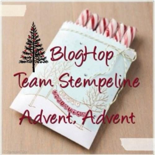 Banner zum BlogHop Team Stempeline