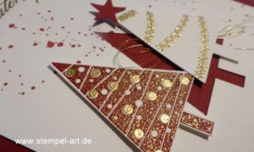 Weihnachtskarten Christbaumfestival Stampin up nach StempelART, Ein duftes Dutzend, Georgeous Grunge  (2)