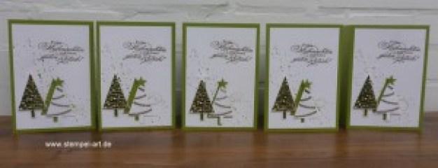 Weihnachtskarten Christbaumfestival Stampin up nach StempelART, Ein duftes Dutzend, Georgeous Grunge  (3)