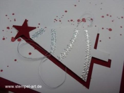 Weihnachtskarten Christbaumfestival Stampin up nach StempelART, Ein duftes Dutzend, Georgeous Grunge  (6)