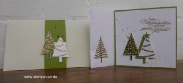 Weihnachtskarten Christbaumfestival Stampin up nach StempelART, Ein duftes Dutzend, Georgeous Grunge  (8)