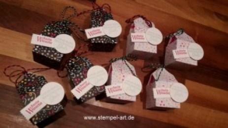 Stampin up Silvester Goodies nach StempelART, Perfekte Pärchen, Stanze Abreissetikett, Ferrero Rocher
