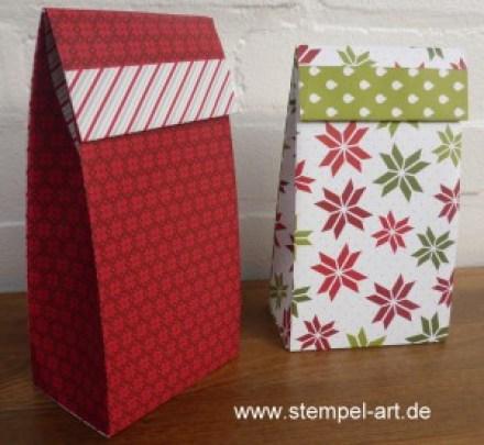 Stampin up Geschenktüte aus Designerpapier mit dem Stampin up Papierschneider nach StempelART