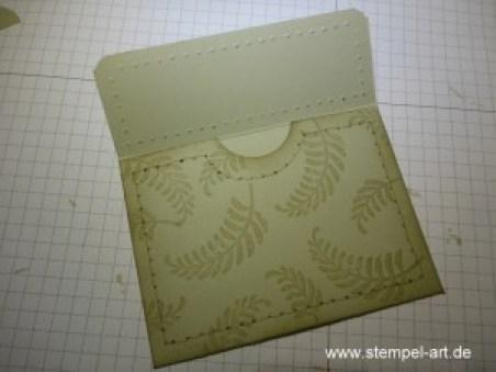 Stampin up Geldbörse nach StempelART, Portemonnaie, Geldgeschenk, Faux Stitching Technique, bebilderte Anleitung, Tutorial, Awesomely Artistic