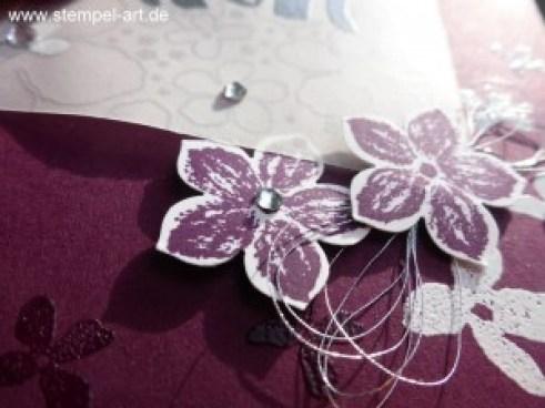 Stampin up Blumen für Dich nach StempelART, Botanischer Garten Desugnerpergament, Petit Petals