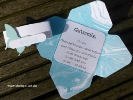 Gutschein nach StempelART, Stanze Eleganter Schmetterling, Stanze Wortfenster