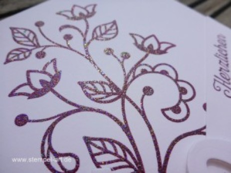 Blühende Worte nach StempelART, Stampin up, Blütenpoesie, Wunderbar verwickelt, Florale Fantasie, Große Zahlen