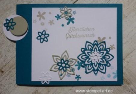 Flap Card Technique nach StempelART, Stampin up, Blütenpoesie, Grüße voller Sonnenschein, Perpetual Birthday Calendar