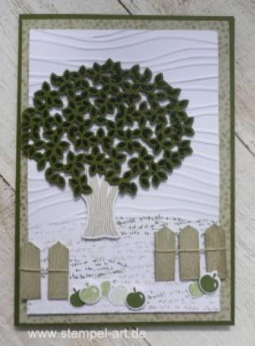 Wald der Worte nach StempelART, Stampin up, Meereswellen, Blatt und Blüte, Stanze Klassisches Etikett