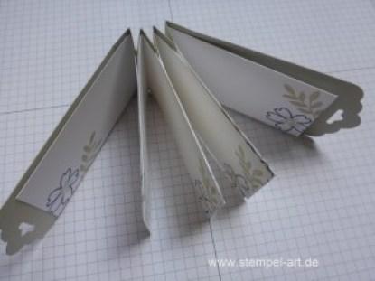 Minialbum nach StempelART, Stampin up, bebilderte Anleitung Tutorial, Für Lieblingsmenschen, Stanze Gewellter Anhänger