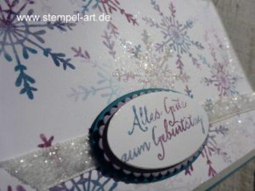 Geburtstagskarte in Baby Wipe Technik nach StempelART, Stampin up, Feuchttuch Technik, Drauf und dran, Lagenweise Ovale, Partyballons