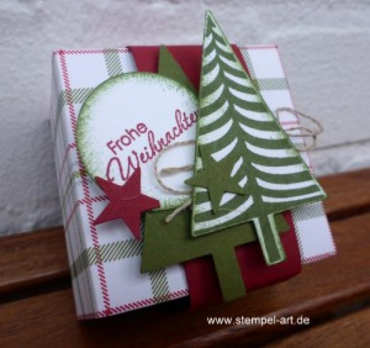 Stampin up Box nach StempelART, 6x6, Christbaumfestival, Perfekte Pärchen