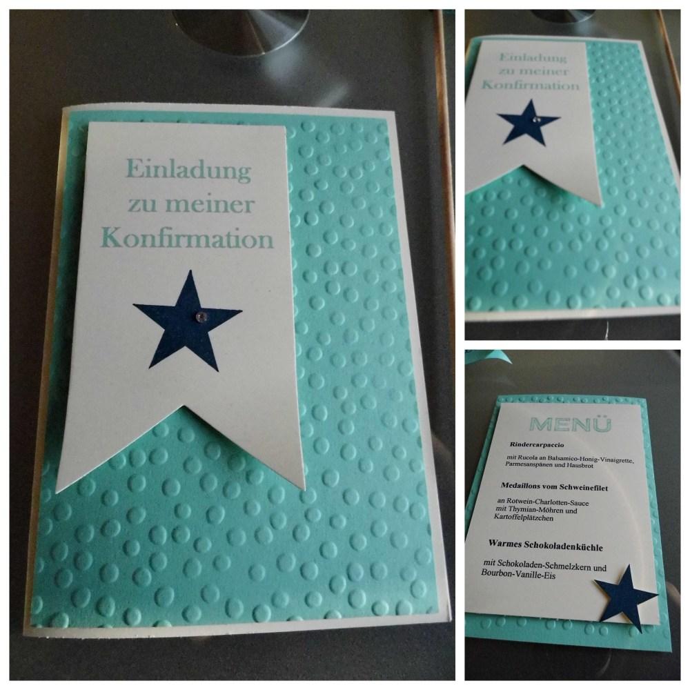 Einladung zur Konfirmation (3/4)