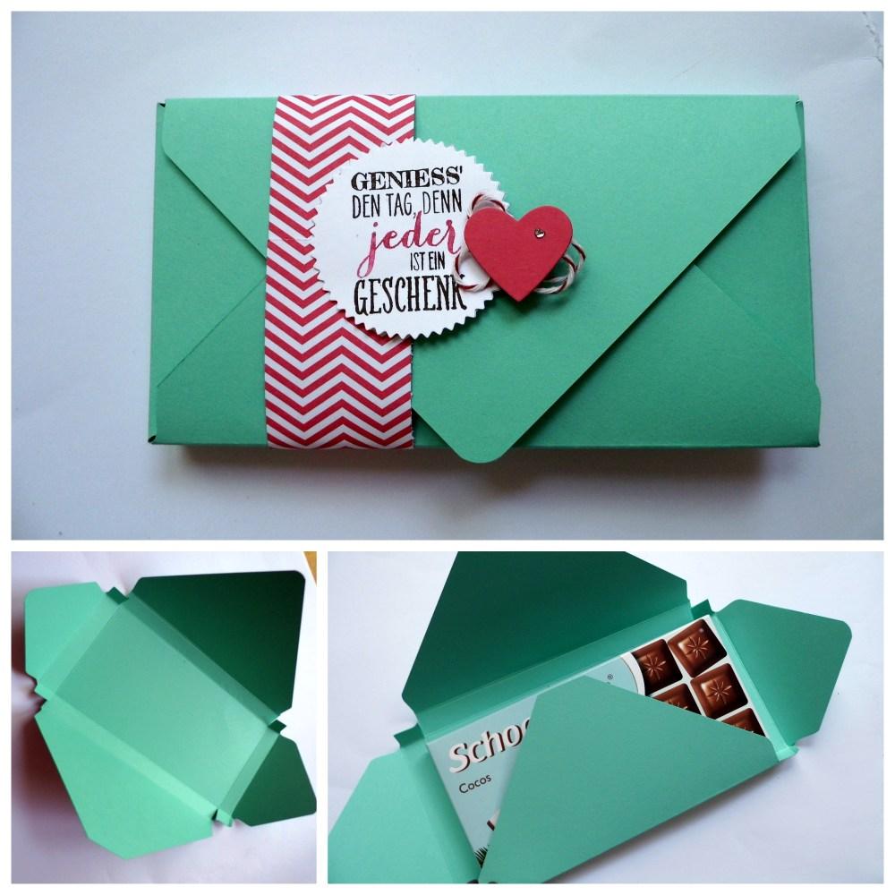 Anleitung für eine Schokoladenverpackung mit dem Envelope Punch Board (2/2)